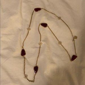 Maroon Kendra necklace